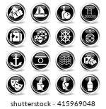 cruise web icons for user... | Shutterstock .eps vector #415969048