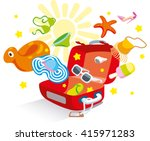 opened suitcase luggage  from... | Shutterstock . vector #415971283