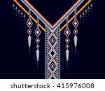 geometric ethnic oriental... | Shutterstock .eps vector #415976008