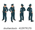 policeman in uniform. isometric ... | Shutterstock .eps vector #415979170