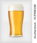 beer glass. realistic mug with... | Shutterstock .eps vector #415988188