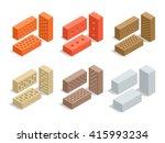 brick icon. brick icon set....