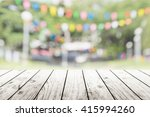 empty wooden table with blurred ... | Shutterstock . vector #415994260