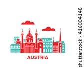 austria architecture retro... | Shutterstock .eps vector #416004148