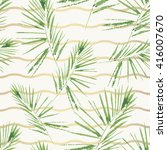palm leaves pattern. seamless ... | Shutterstock .eps vector #416007670