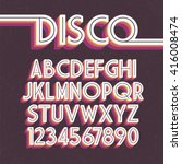 80's retro font. vector disco... | Shutterstock .eps vector #416008474