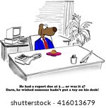 business cartoon about... | Shutterstock . vector #416013679