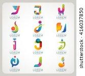 logo letter i element and... | Shutterstock .eps vector #416037850