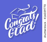 congrats grad  congratulations... | Shutterstock .eps vector #416039770