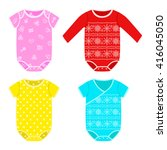 cute colorful costumes for... | Shutterstock .eps vector #416045050