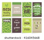 set of cards with art design.... | Shutterstock .eps vector #416045668