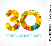 30 years old multicolored... | Shutterstock .eps vector #416051176