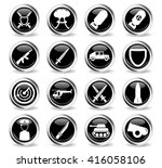 military simply symbol for web... | Shutterstock .eps vector #416058106