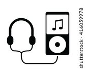 music player with headphones...