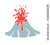 volcano eruption logo  vector... | Shutterstock .eps vector #416060608