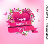 happy mothers day card  | Shutterstock .eps vector #416061964
