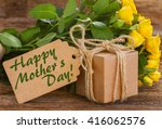 bunch of yellow roses  on... | Shutterstock . vector #416062576