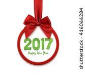 happy new year 2017 round... | Shutterstock .eps vector #416066284