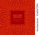 vector nature decor for your... | Shutterstock .eps vector #416067394