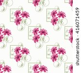 seamless floral pattern with... | Shutterstock . vector #416071459