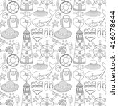 big set with doodle images... | Shutterstock .eps vector #416078644