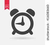 alarm clock icon vector icon ... | Shutterstock .eps vector #416083660