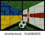 ukraine vs northen ireland...   Shutterstock . vector #416086003