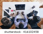 young entrepreneurs working at... | Shutterstock . vector #416102458