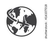 travel icon vector illustration ... | Shutterstock .eps vector #416107018