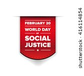 world day of social justice... | Shutterstock .eps vector #416114854