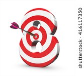 3d target arrow letter ...   Shutterstock . vector #416117350