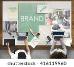 brand branding label marketing... | Shutterstock . vector #416119960