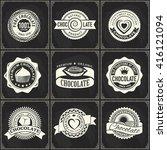 vintage vector logo set of... | Shutterstock .eps vector #416121094
