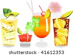 row of four cocktails  vector... | Shutterstock .eps vector #41612353