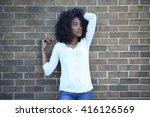 african american  adult student ... | Shutterstock . vector #416126569