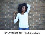 african american  adult student ... | Shutterstock . vector #416126623