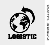 logistic design. shipping and... | Shutterstock .eps vector #416130406