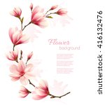 nature background with blossom... | Shutterstock .eps vector #416132476