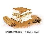 homemade tiramisu cake with... | Shutterstock . vector #41613463