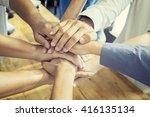teamwork concept.business team... | Shutterstock . vector #416135134