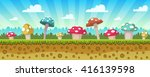 cartoon game background with... | Shutterstock .eps vector #416139598