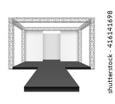 fashion runway podium stage ... | Shutterstock .eps vector #416141698