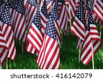 groups of usa flags on the... | Shutterstock . vector #416142079