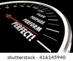 plan practice perform perfect...   Shutterstock . vector #416145940