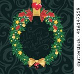 christmas wreath | Shutterstock . vector #416147359