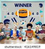 league sport fitness exercise... | Shutterstock . vector #416149819