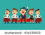 super business team  ... | Shutterstock .eps vector #416150023