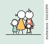 parenting logo template. family ... | Shutterstock .eps vector #416152390