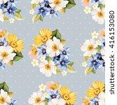 seamless pattern blue white...   Shutterstock .eps vector #416153080
