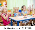 kids group learning arts and... | Shutterstock . vector #416156518